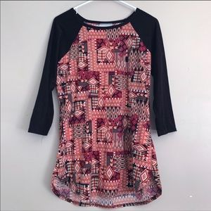Bobbie Brooks | Aztec patterned raglan t-shirt M